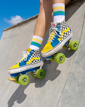 Custom skates by WOW Rolling - PHOTO BY MAURICIO MURILLO