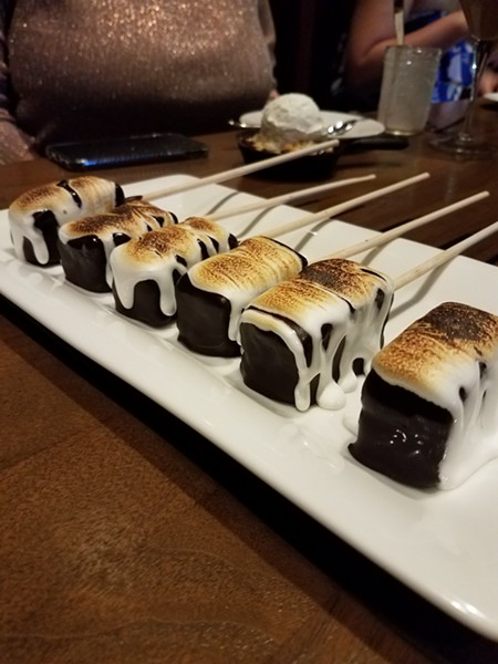 Fragmentary Blue: S'mores, dark chocolate brownie, graham cracker crust, brulee marshmallow