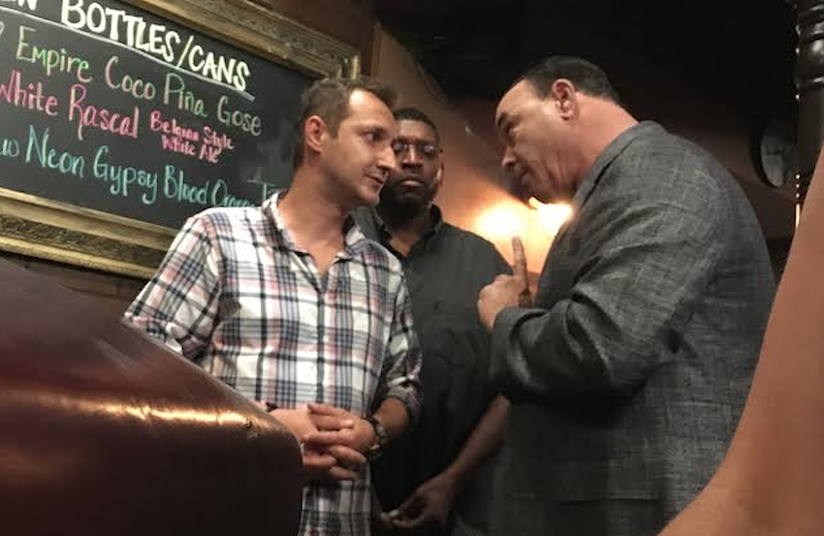 "Copper Rocket owner Selman Markovic (left) getting ""Taffer'd - PHOTO VIA SNAPCHAT"