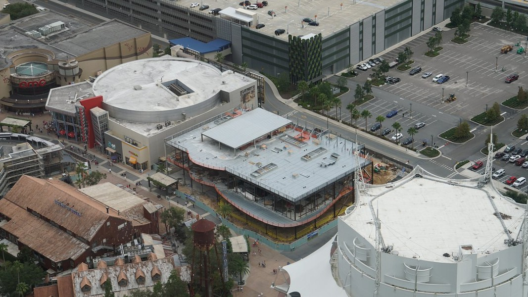 The NBA Experience under construction. The current Cirque du Soleil in the far right. - IMAGE VIA BIORECONSTRUCT | TWITTER