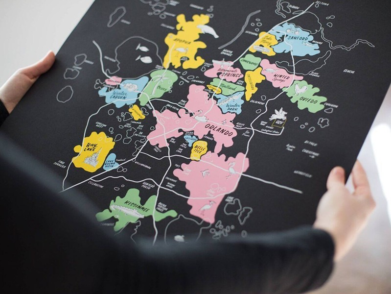Map by Hillery Powers - PHOTO VIA ORLANDO FLEA/FACEBOOK