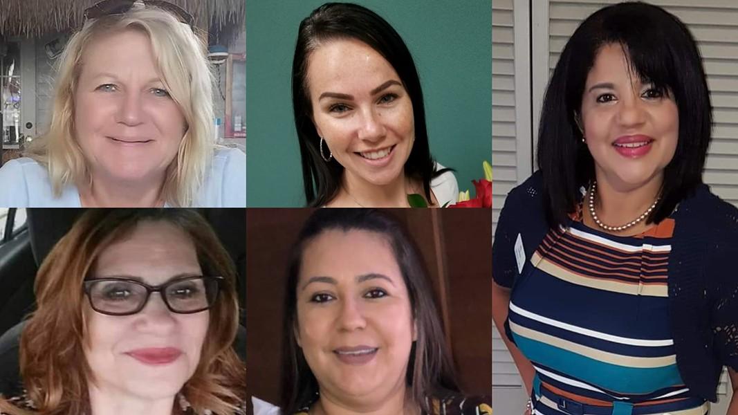 Clockwise, from left: Cynthia Watson, Jessica Montague, Marisol López, Ana Piñon-Williams and Debra Cook. - PHOTOS VIA FACEBOOK