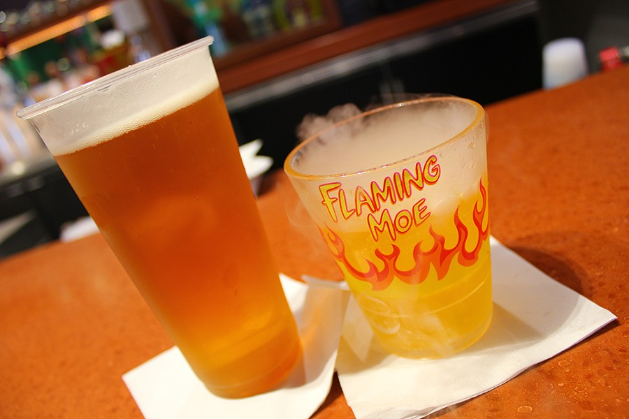 Drink a Flaming Moe at Universal's Springfield USA