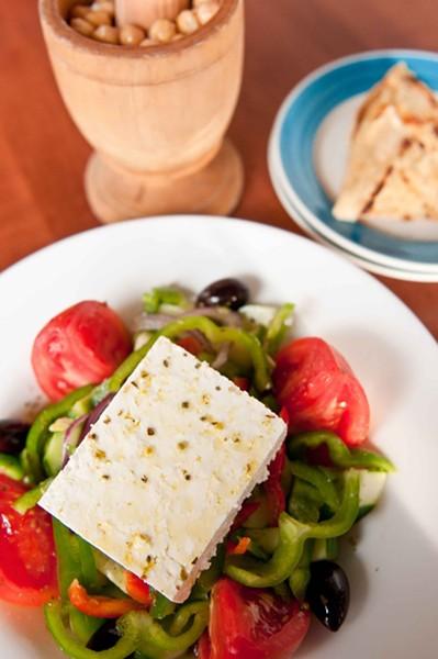 Taverna Opa's Greek salad. - PHOTO COURTESY TAVERNA OPA