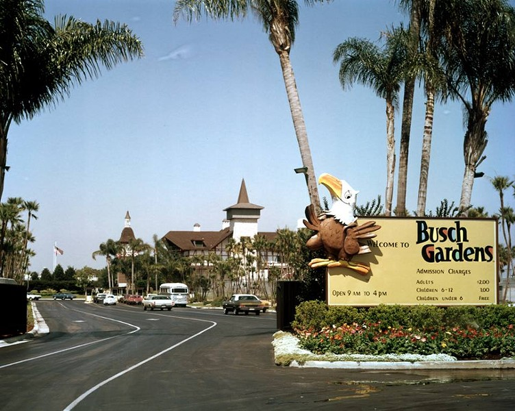 A retro photo from Busch Gardens Tampa. Parking is no longer $2. - PHOTO VIA BUSCH GARDENS TAMPA/FACEBOOK