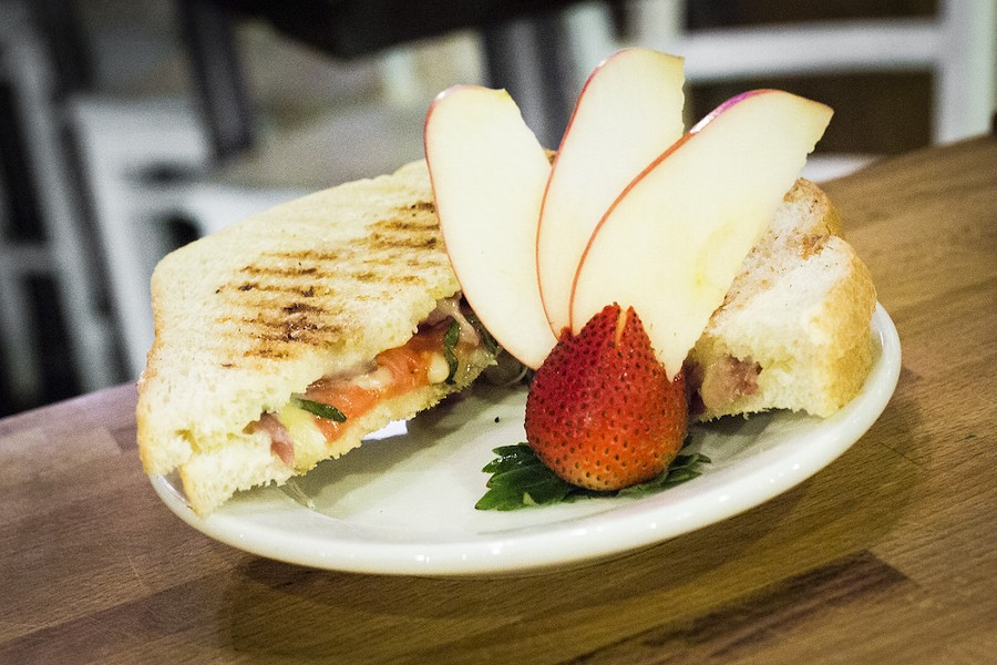 Grilled cheese at La Femme du Fromage: get happy hour prices between 3-5 p.m. - PHOTO BY ROB BARTLETT