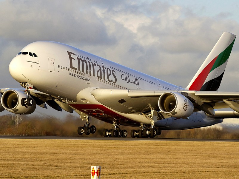 VIA EMIRATES AIRLINES