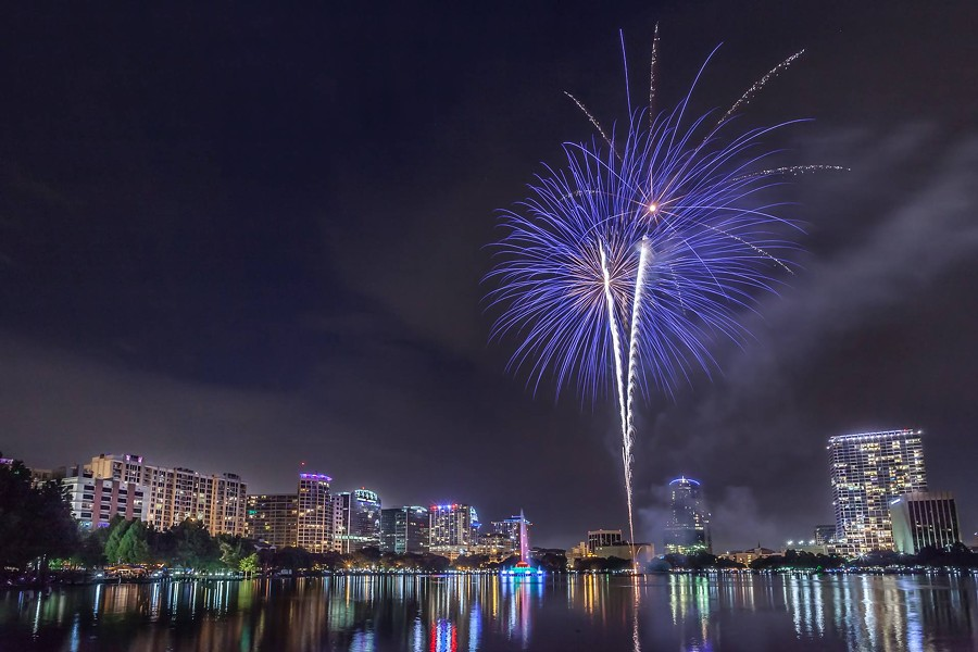 """Fireworks Over Lake Eola"" - ALI ELHAJJ, VIA FACEBOOK"