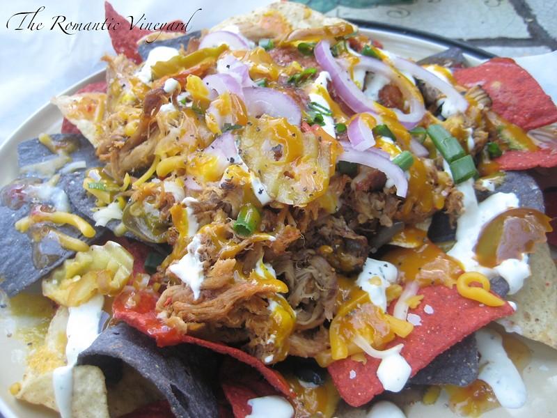 Pulled pork nachos from Yellow Dog Eats - PHOTO VIA ROMANTIC VINEYARD BLOG