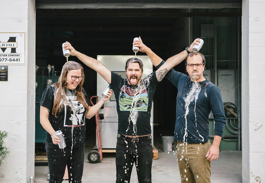 From left to right: Mandy Protheroe, Garrett Ward and Austin Ward. - PHOTO BY JAMES HAND VIA SIDEWARD BREWING COMPANY