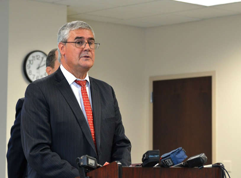 Orange-Osceola State Attorney Jeff Ashton at a Monday press conference regarding the indictment of Eatonville Mayor Anthony Grant. - PHOTO BY MONIVETTE CORDEIRO