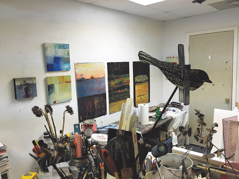 Donne Bitner's studio at McRae