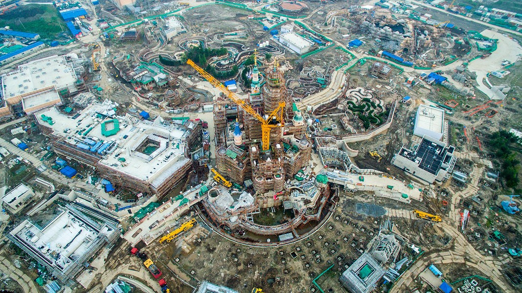 Construction at Walt Disney World in Shanghai - PHOTO VIA CHINAFOTOPRESS