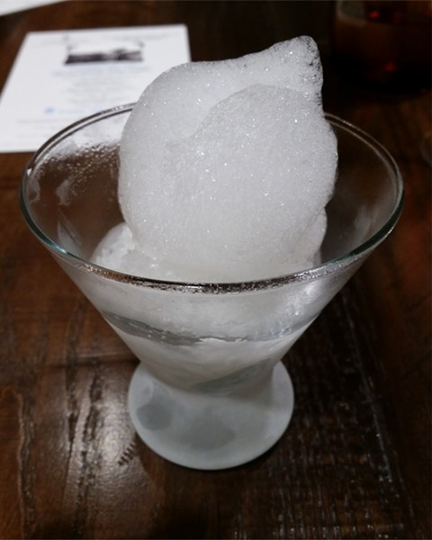 Tequila granita, salt air - PHOTO BY FAIYAZ KARA