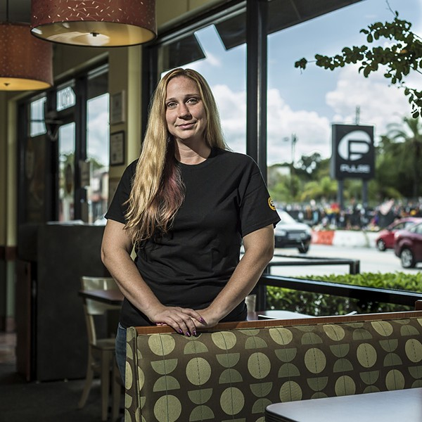Tammi Heimburg at Einstein Bros. Bagels on South Orange Avenue - ROB BARTLETT