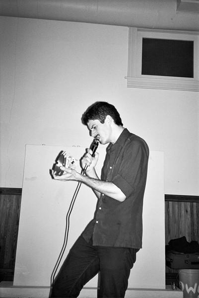 David Vassalotti at the In-Between Series... serenading a skull - LIV JONSE
