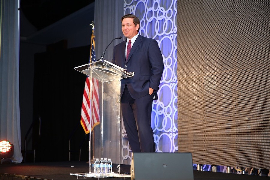 Gov. Ron DeSantis addresses the Florida League of Cities, Aug. 16, 2019 - PHOTO COURTESY THE GOVERNOR'S PRESS OFFICE