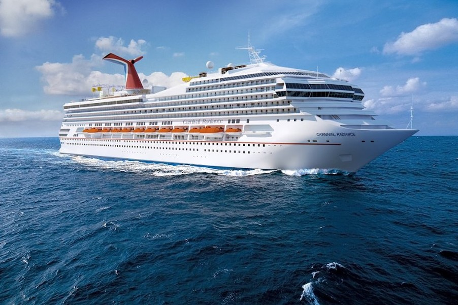 PHOTO OF CARNIVAL RADIANCE VIA CARNIVAL CRUISE LINES/TWITTER