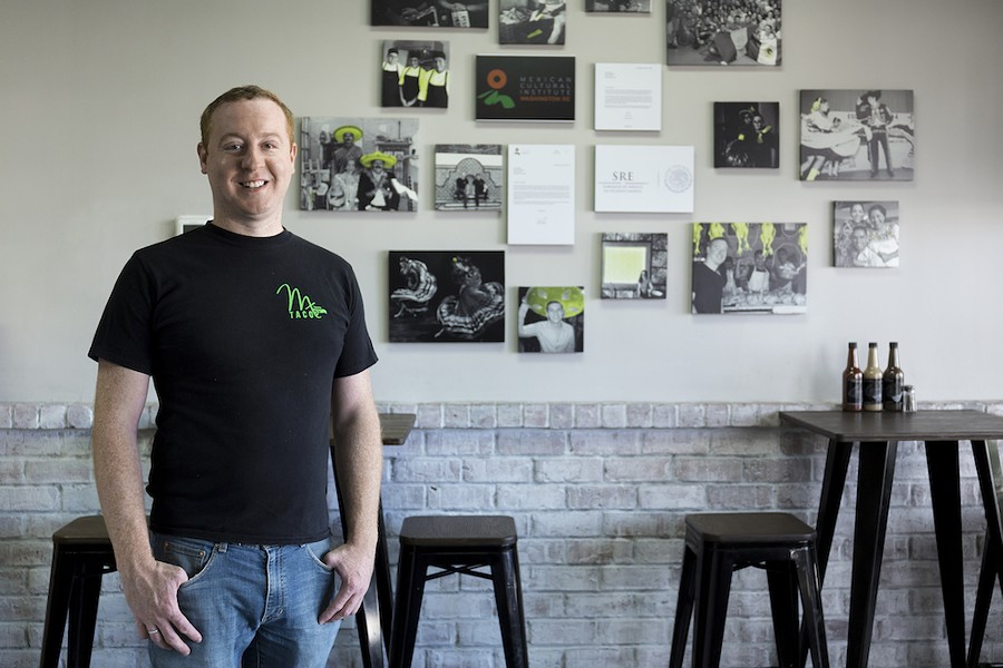 Ryan Manning at his Milk District taqueria, MX Tacos - PHOTO BY ROB BARTLETT