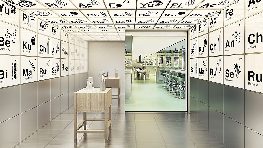 The entrance to Test Kitchen on the new Virgin Voyages Scarlett Lady - IMAGE VIA VIRGIN VOYAGES