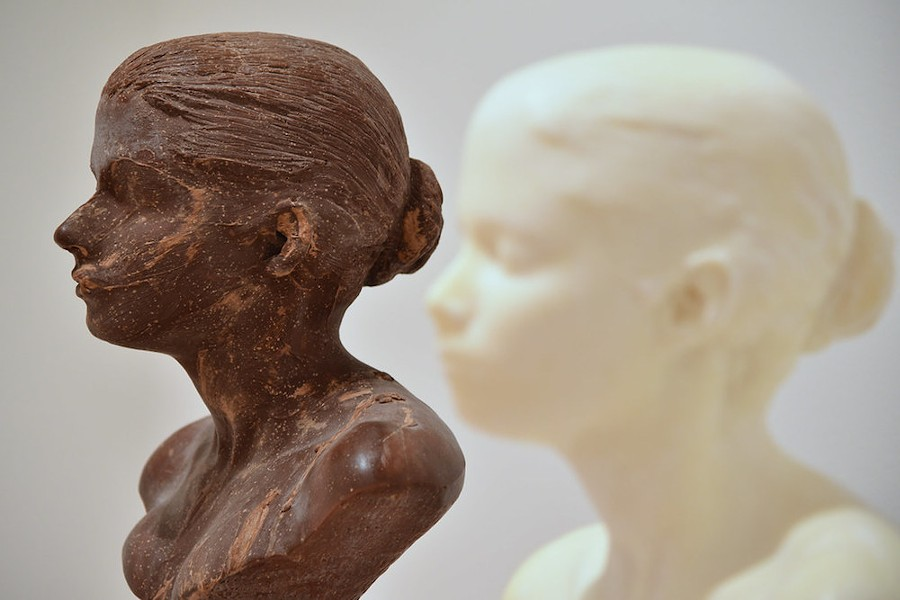 Works created by Janine Antoni's 'Lick and Lather' performances, made of chocolate and soap, require unique preservation methods. - PHOTO OF ARTWORK BY JANINE ANTONI BY IAN ABBOTT/FLICKR