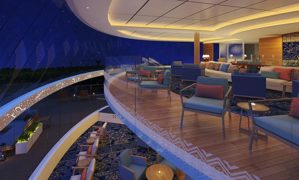 The Explorers' Lounge on the Viking Mississippi - IMAGE VIA VIKING CRUISES
