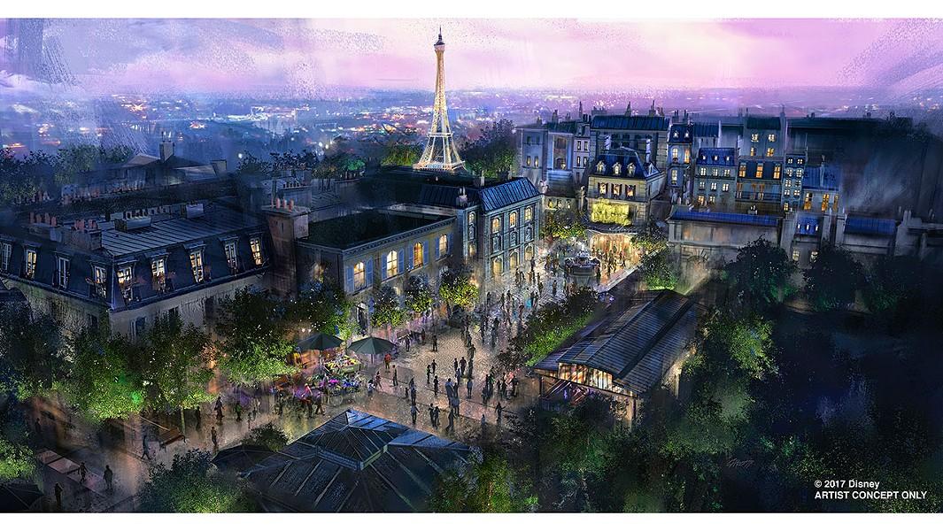 The new Ratatouille area being built in Epcot's France pavilion - CONCEPT ART VIA DISNEY