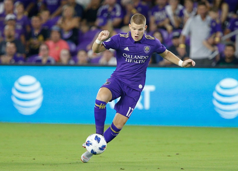 """Chris Mueller, one of the team's most promising young players, has scored three goals during the """"MLS Is Back"""" tournament. - PHOTO COURTESY ORLANDO CITY SOCCER CLUB"""