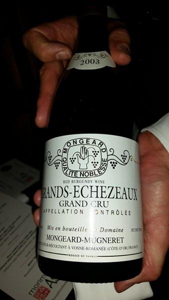 "A ""surprise"" 2003 Mongeard-Mugneret Grand Echezeaux Grand Cru Burgundy"