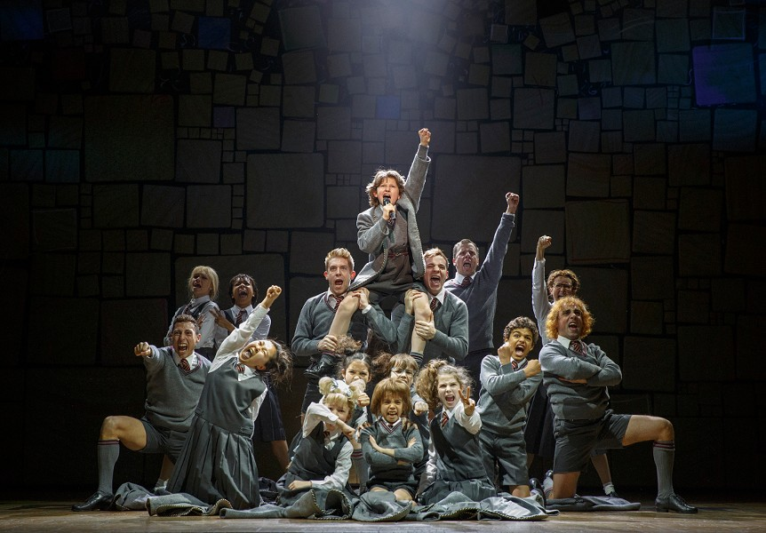 The cast of Matilda: The Musical, playing now through May 14 at the Dr. Phillips Center. - JOAN MARCUS