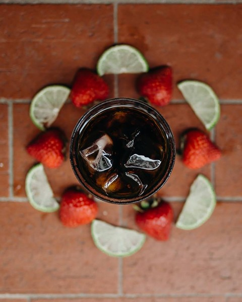 Strawberry-limeade cold brew - PHOTO VIA DOWNTOWN CREDO/FACEBOOK