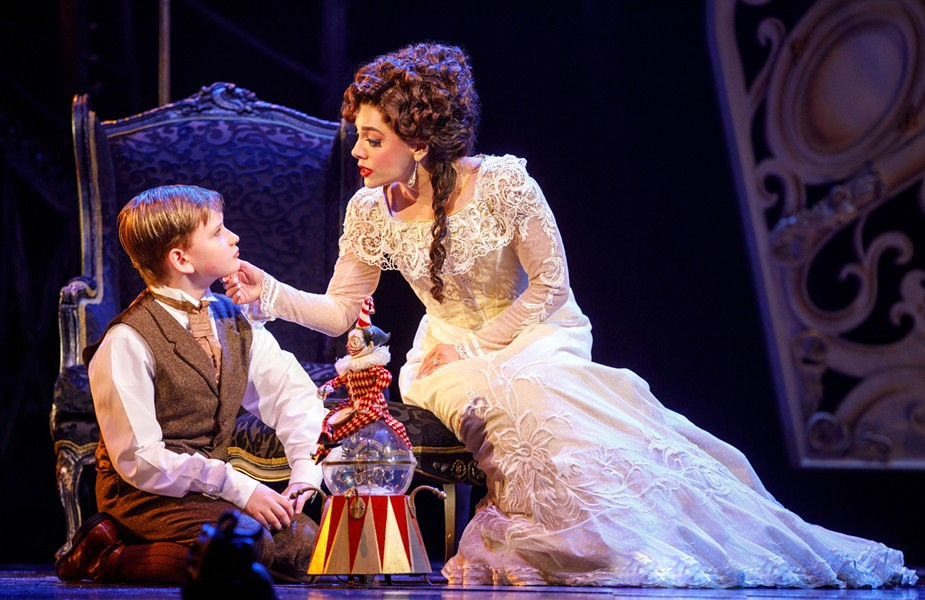"Jake Heston Miller (""Gustave"") and Meghan Picerno (""Christine Daaé"") star in 'Love Never Dies'. - PHOTOS BY JOAN MARCUS"
