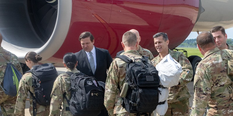 Gov. Ron DeSantis oversees deployment of the 125th Fighter Wing of Florida Air National Guard (June 2019)