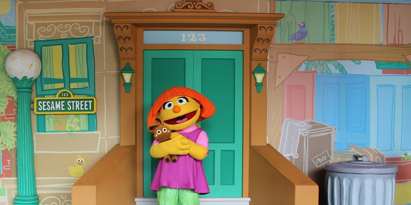 Julia is a 4-year-old muppet with autism. She was added to the 'Sesame Street' cast in 2015.