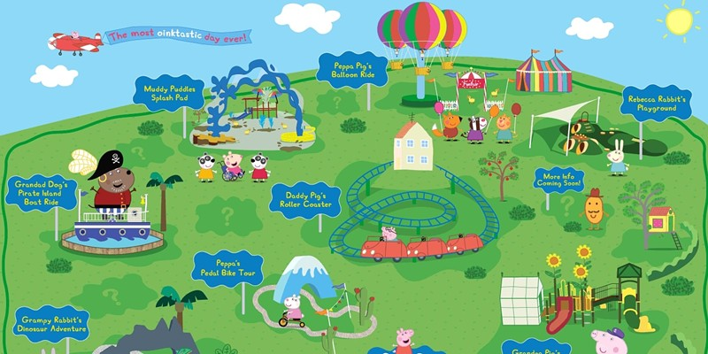 A map of the planned attractions for Legoland's Peppa Pig Theme Park.