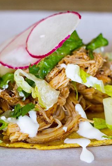 The New York Times picked Black Rooster Taqueria in Mills 50 as their top taco.