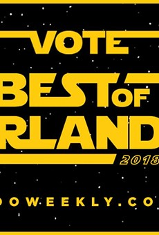 Nominate your local favorites in Orlando Weekly's Best of 2018 readers poll