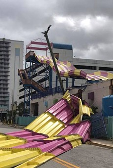 The Kraken's Quest slide after Hurricane Irma