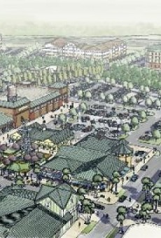 Original renderings of the Flamingo Crossings village center