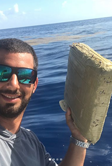 Florida fisherman catches marijuana brick, calls it an 'early birthday gift from Pablo Escobar' (2)