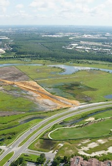 Universal has built a new access road to its expansion properties a few miles southeast of its current theme parks in Central Florida.