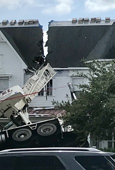 Wall St. Cantina in downtown Orlando offers free lunch if a crane fell on your house