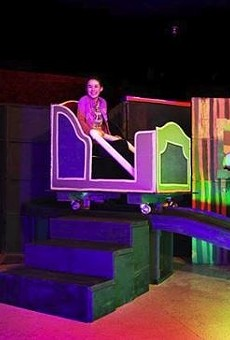 This dad built a working replica of Disney's Haunted Mansion in his garage