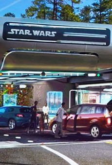 The Star Wars hotel's main guest drop-off area