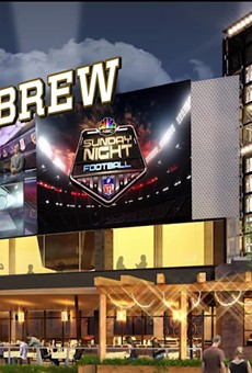 Concept art of the new NBC Sports Grill & Brew, coming to CityWalk this fall.