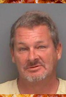 A Florida man was arrested for assaulting his roommate with pizza