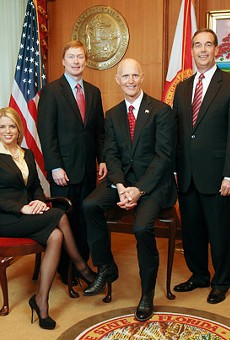 The wild bunch: (l-r) Attorney General Pam Bondi, Agriculture Commissioner Adam Putnam, Gov. Rick Scott and CFO Jeff Atwater.