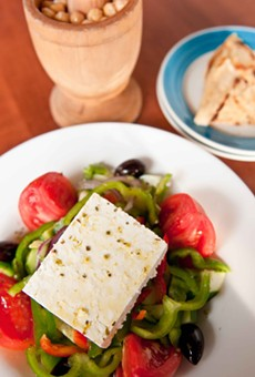 Taverna Opa's Greek salad.