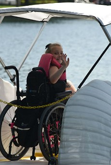 Lake Eola launches new wheelchair-accessible swan boat
