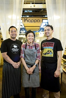 "Free sushi for ""Friends of Kappo"" today at East End Market rally"